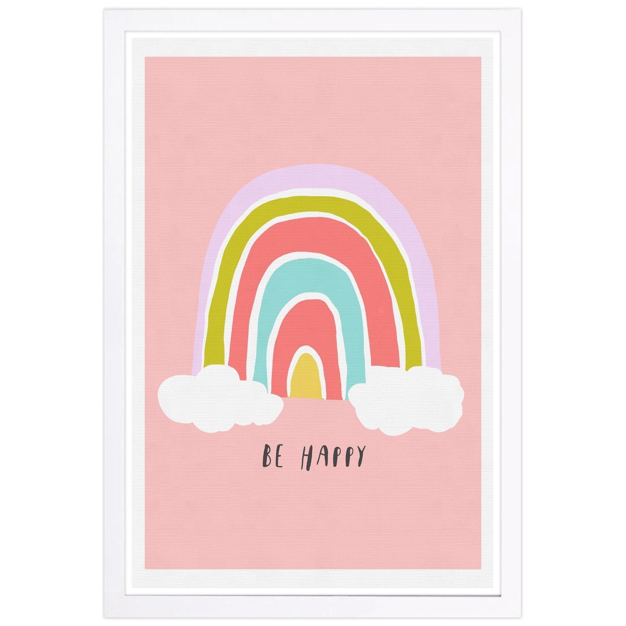 shop wynwood studio be happy rainbow typography and quotes