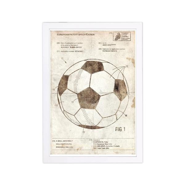 Football Game Ball Vintage Sports Patent Wall Art Print w// Optional Frame