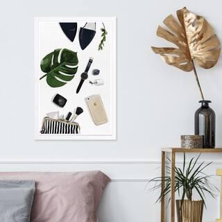 Wynwood Studio 'Tropical Goodies ' Fashion and Glam Framed Wall Art Print - Green, White - 13 x 19