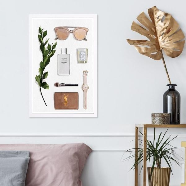 Wynwood Studio 'Nude' Fashion and Glam Framed Wall Art Print - Brown, White - 13 x 19