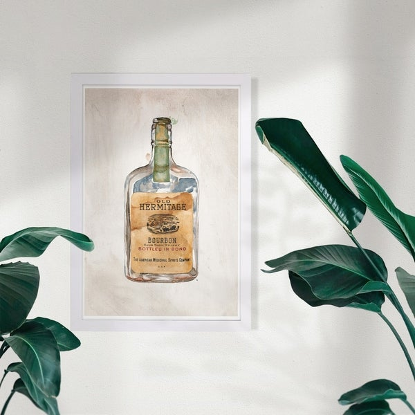 Wynwood Studio 'Old Hermitage' Drinks and Spirits Framed Wall Art Print - Brown, Brown - 13 x 19