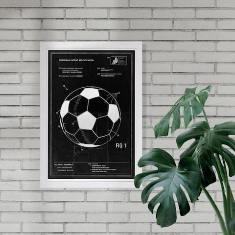 Wynwood Studio 'soccer ball 2012' Sports and Teams Framed Wall Art Print - Black, White