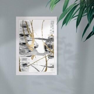 Wynwood Studio 'Chronos II' Fashion and Glam Framed Wall Art Print - Gold, Gray - 13 x 19