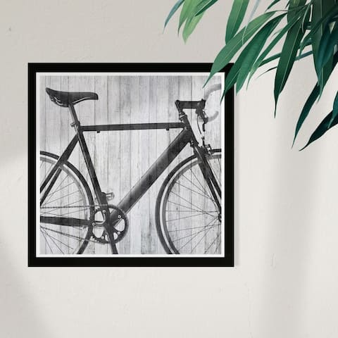 Wynwood Studio 'Mode Bicycle' Sports and Teams Framed Wall Art Print - Black, Gray - 13 x 13