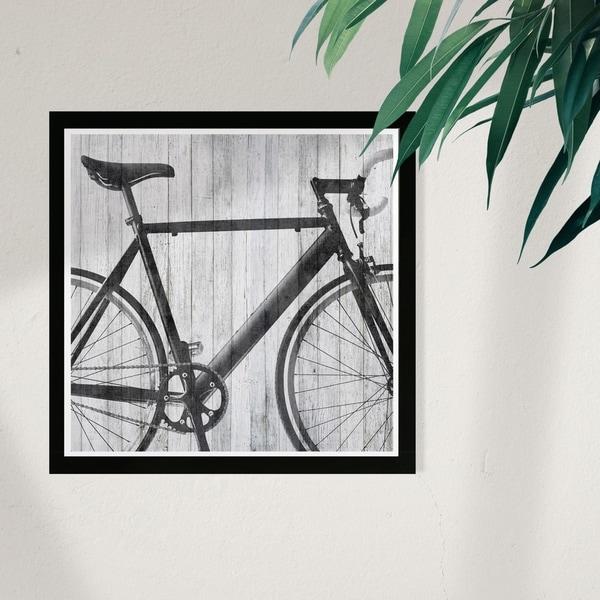 Wynwood Studio 'Mode Bicycle' Sports and Teams Framed Wall Art Print - Black, Gray - 13 x 13