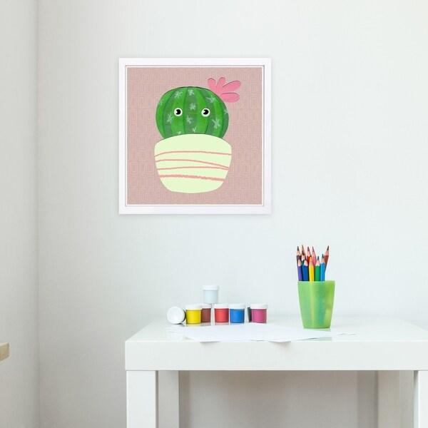 Wynwood Studio 'Rosita Pastel' Floral and Botanical Framed Wall Art Print - Green, Pink - 13 x 13