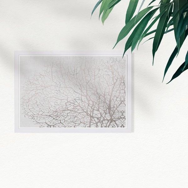 Wynwood Studio 'Seatree Concrete' Nautical and Coastal Framed Wall Art Print - Gray, White. Opens flyout.