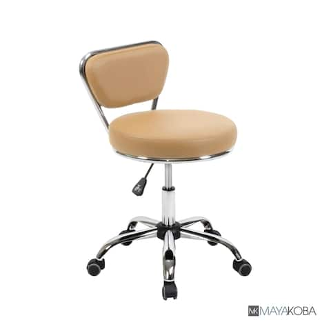Reception Desk Chair DAYTON Cashmere Pneumatic Stool, Tall Drafting Chair, Adjustable Height, Architecture Technician Stool