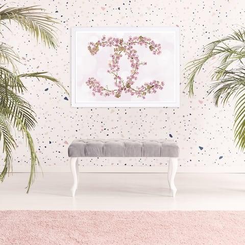 Wynwood Studio 'Sakura Love' Fashion and Glam Framed Wall Art Print - Pink, White