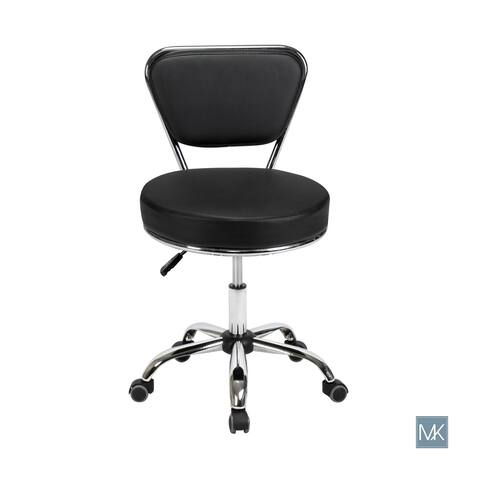 Reception Desk Chair DAYTON Black Pneumatic Stool, Tall Drafting Chair, Adjustable Height, Architecture Technician Stool