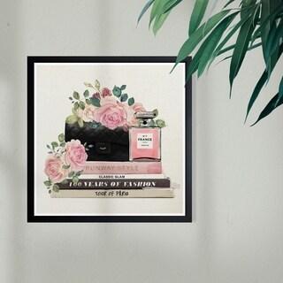 Wynwood Studio 'Doll Daydreams' Fashion and Glam Framed Wall Art Print - Pink, Black - 13 x 13