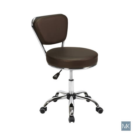 Reception Desk Chair DAYTON Coffee Pneumatic Stool, Tall Drafting Chair, Adjustable Height, Architecture Technician Stool
