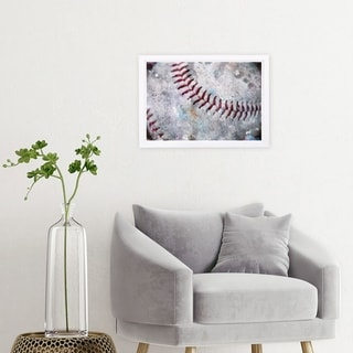 Link to Wynwood Studio 'Baseball Made' Sports and Teams Framed Wall Art Print - White, Red Similar Items in Art Prints
