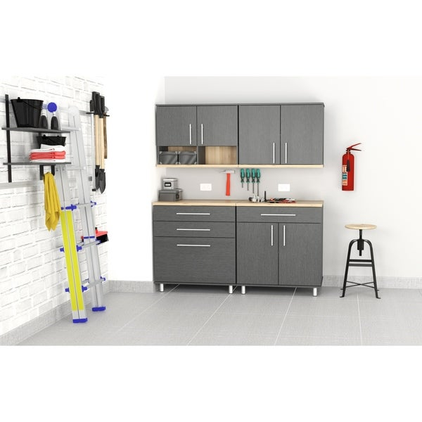 Inval KRATOS 4-Piece Graphite Grey Garage Cabinet Set
