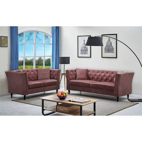 Arielle Chesterfield 2PC Living room set