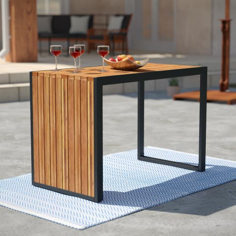 Holly & Martin Stokeden Solid Wood Outdoor Dining Table