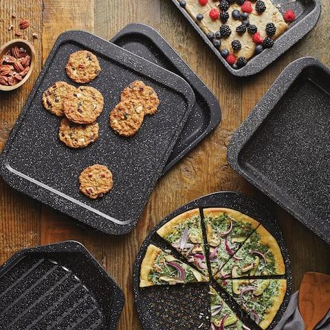 "Prestige Stone Quartz Bakeware Nonstick Baking Pan, 8.5"" x 12.5"", Blk"