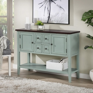 The Gray Barn Cattail Hollow Farmhouse Antique Blue Hallway Cabinet