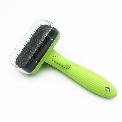Telescopic Pet Brush Dog Cat deSheddding Tool Pet Automatic Hair Removing Comb Grooming Brush
