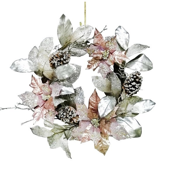 """24"""" Large Poinsettia Wreath"""