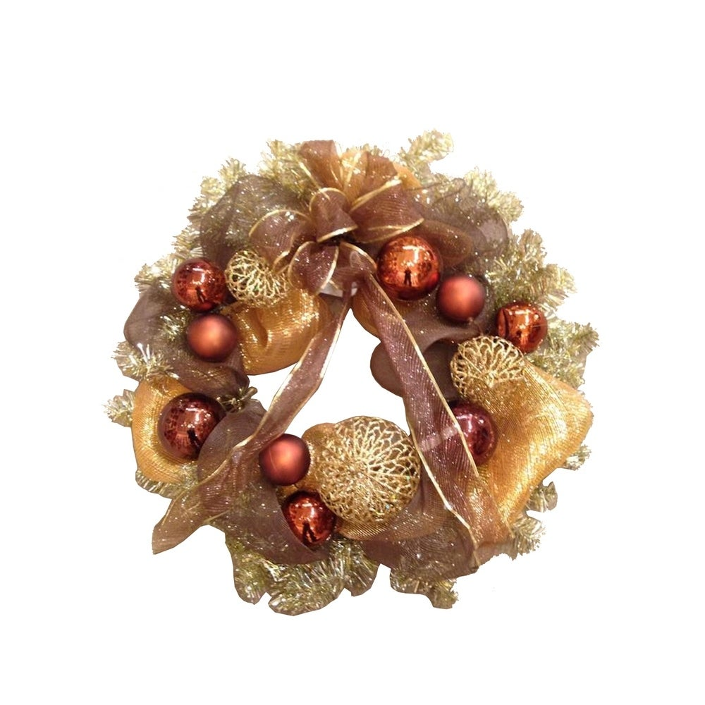 Overstock 30 Christmas Decor Mesh Wreath From Overstock Com Daily Mail
