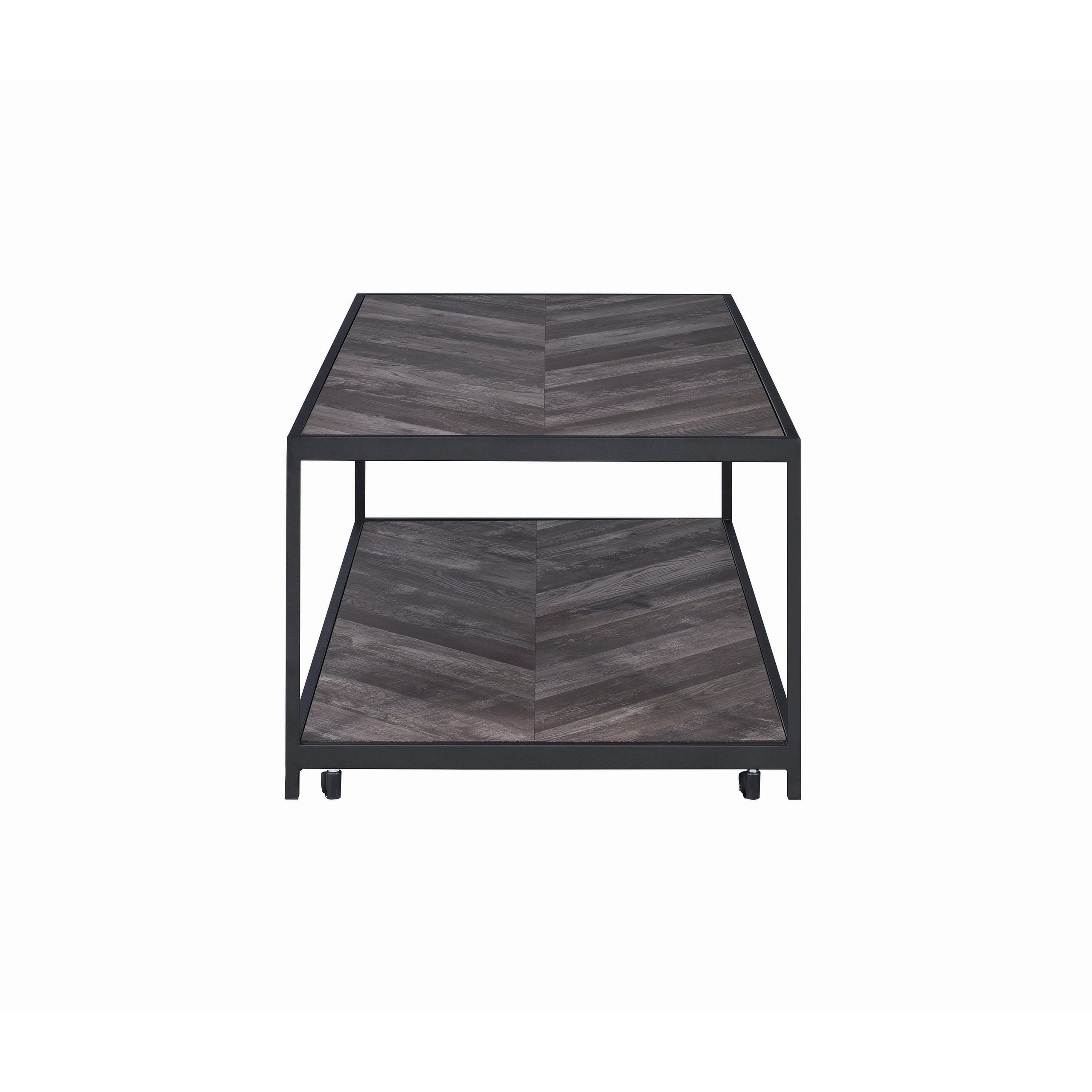 Brilliant Metal Coffee Table With Wooden Top And Bottom Shelf Black And Brown Andrewgaddart Wooden Chair Designs For Living Room Andrewgaddartcom