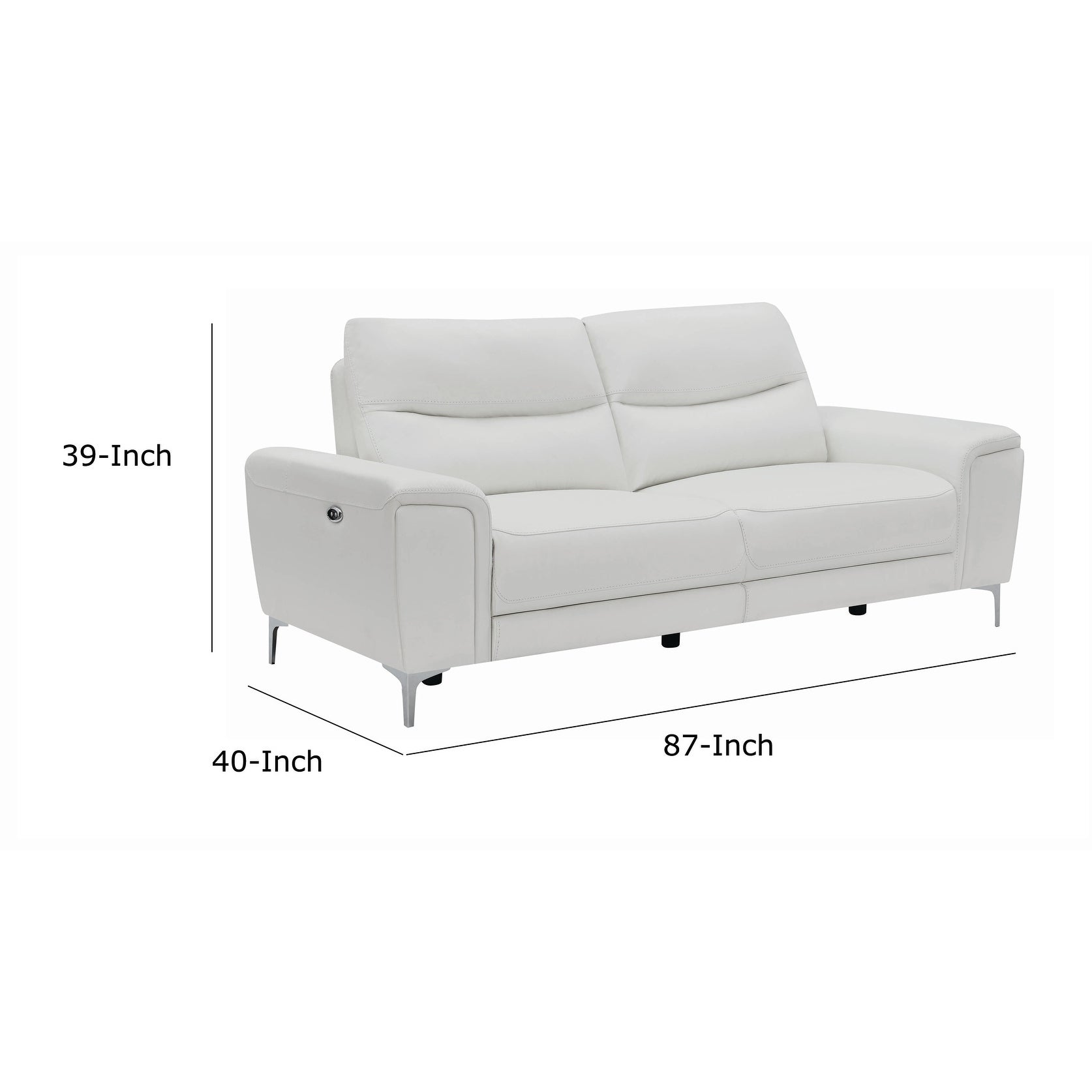 Terrific Wood And Leatherette Dual Reclining Sofa With Usb Port White Camellatalisay Diy Chair Ideas Camellatalisaycom