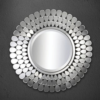 Silver Orchid Ballin 39.5-inch Round Silver Mirror