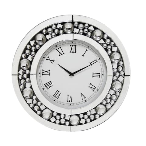 Glendal Contemporary Silver Wall Clock by FOA