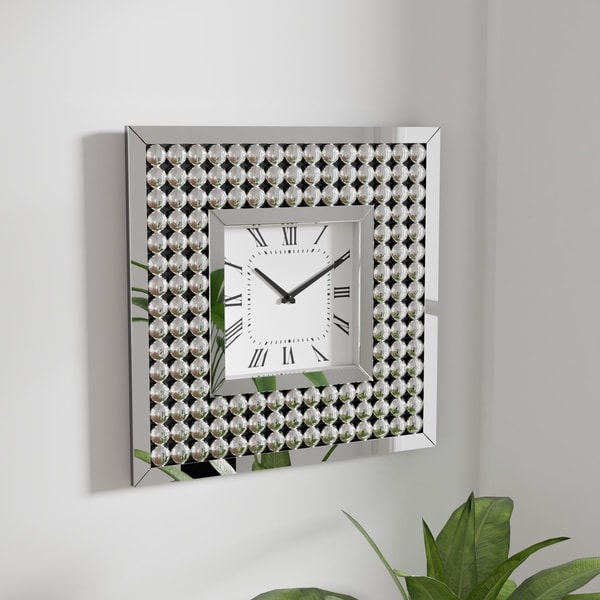 Silver Orchid Arvidson Contemporary Silver Wall Clock. Opens flyout.