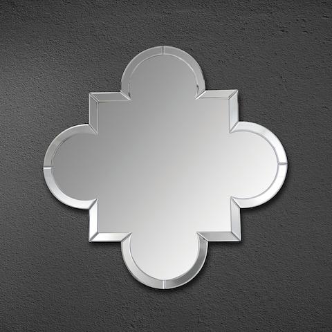 Silver Orchid Basquette Contemporary 30-inch Round Silver Mirror