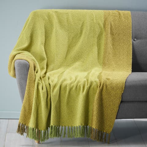 Berwick Cotton Throw Blanket by Christopher Knight Home