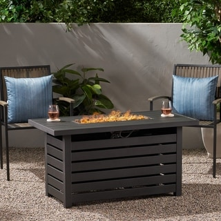 Rene Iron Rectangular Fire Pit by Christopher Knight Home