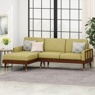 Arkwright 3-Seater Fabric Sectional Set with Chaise Lounge by Christopher Knight Home