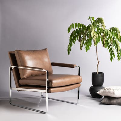 Accent Chairs, Leather | Shop Online at Overstock