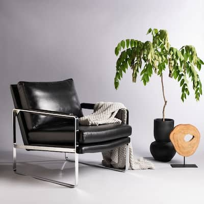 Black, Leather Living Room Chairs | Shop Online at Overstock