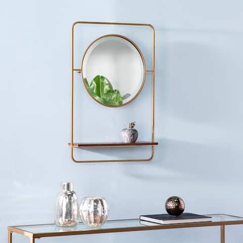 Harper Blvd Conway Midcentury Modern Brown Mirror with Shelf