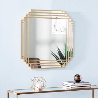 Ava Art Deco Gold Metal Mirror