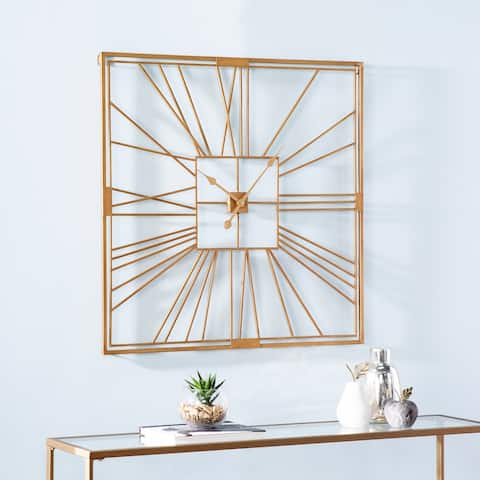 Carson Carrington Laggbyn Contemporary Gold Metal Clock