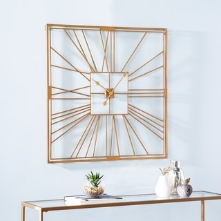 Link to Carson Carrington Laggbyn Contemporary Gold Metal Clock Similar Items in Decorative Accessories