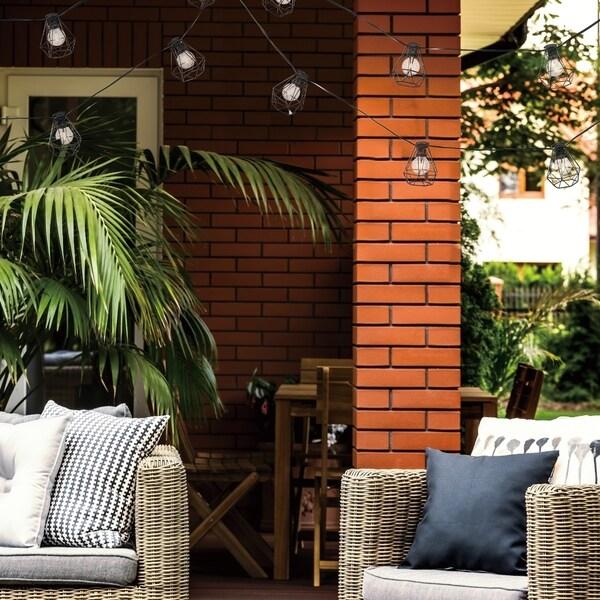 Stanza 10-light Outdoor/Indoor String Lights LED Bulbs Havenside Home - 10 ft. Opens flyout.