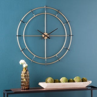 Strick & Bolton Bethune Gold Metal Wall Clock