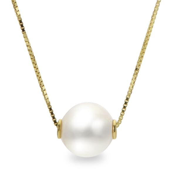 7473ecb1f9eb5 Shop PearLustre by Imperial 14KY Akoya Pearl Solitaire Necklace ...