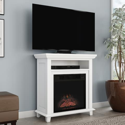 Electric Fireplace TV Stand - Faux Logs and LED Flames by Northwest