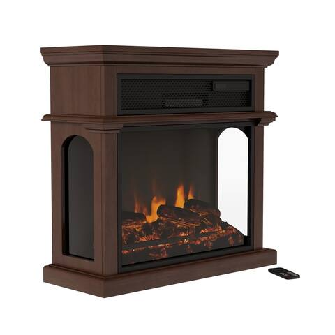 Freestanding Electric Fireplace - 3-Sided Space Heater by Northwest - 28.7 x 11.6 x 27.6