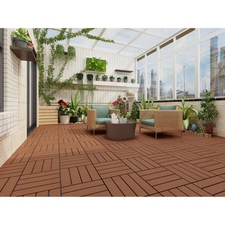 Clay Finish Bamboo Composite Deck Tile (11 Sq. Ft/Carton)