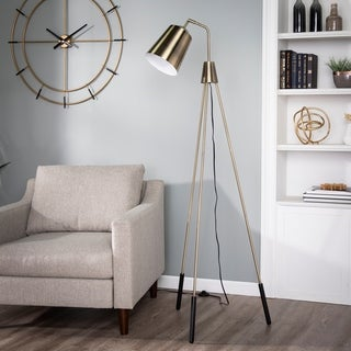 Link to Strick & Bolton Moria Tripod Brass Floor Lamp Similar Items in Floor Lamps