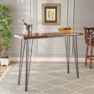Chana Industrial Faux Live Edge Bar Table by Christopher Knight Home (As Is Item)