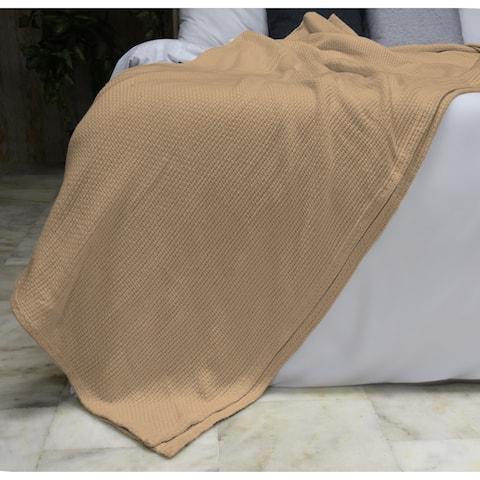 "Briarwood Home - 100% Soft Premium All Season Cotton Blankets, Lightweight Comfortable, Warm & Soft, Queen 90""X90""-Beige"