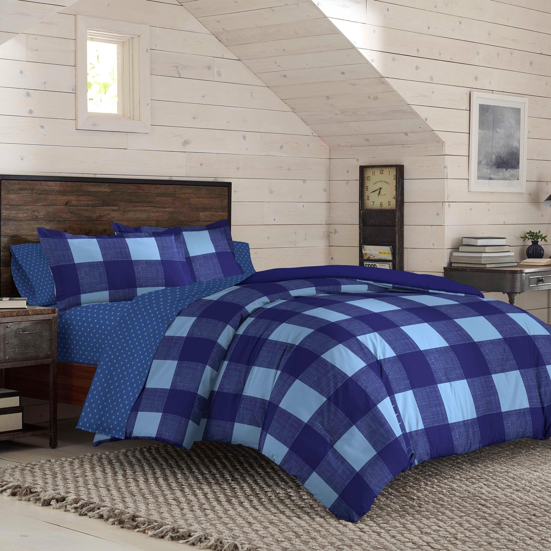 Izod Buffalo Plaid Reversible Comforter Set With Shams On Sale Overstock 28898785